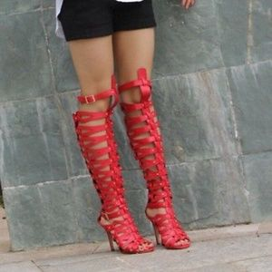Cape Robin Women's Gladiator Heels Sandals 11